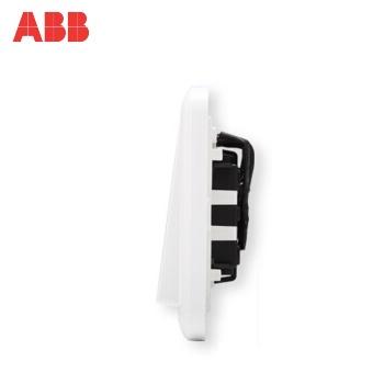 瑞士ABB 开关插座 德逸三开双控开关带灯LED 三位双控开关AE166